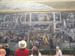 Detroit Rock Citay!!!! Diego Rivera was well worth the layover. The trials of the working man