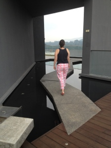Morning walk on the 35th floor serenity gardens...more Verve suites