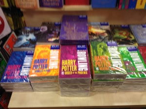 Harry Potter book covers in Malaysia, cause I'm the kind of nerd who thinks that's neat...