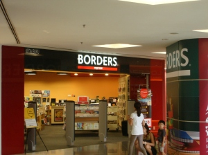 The Mall in Mont Kiara has a Borders! There are a lot of Borders here in KL...Radio Shack too. Weird. For all my worries about not being able to find books in English, it is dangerously easy. Now Iris is worried.