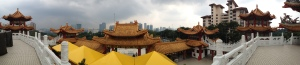 Panorama of the city for the temple roof