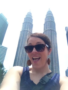 It is required that you take at least 50 pictures of the Petronas towers while here. Another selfie.