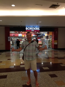 So we went to another mall, and it had the world's largest Borders. So of course I took a picture in front of it for John Heise. Turns out that is no longer true, it is kind of small...still bought two books there though