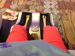 And those wonderful free foot/leg massage machines. Yes, yes, yes please!